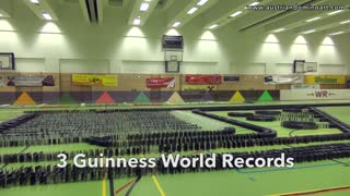3 Guinness World Records broken all at once! - Video