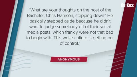 WOKE CULTURE Gets to Bland, Inoffensive Chris Harrison