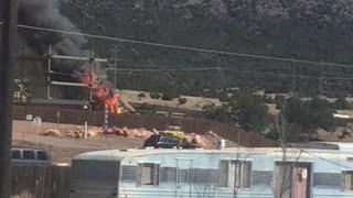 T-Rex burns at Royal Gorge Dinosaur Experience - Video