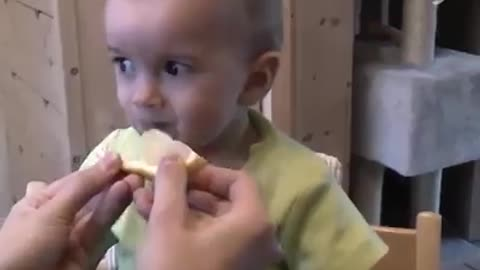 Cute Baby Reacts with Sour !!