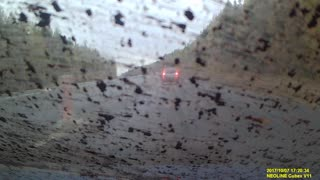 Mud Shower on Windshield - Video