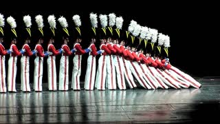 Rockettes Mesmerize The Audience With Amazingly Slow Toy Soldiers Falling Down - Video
