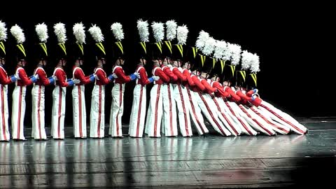 Rockettes perform toy soldiers falling down
