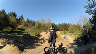 Collab copyright protection - dirt bike spins but falls - Video