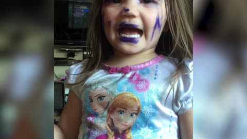 Girl Mistakes Permanent Marker For Makeup