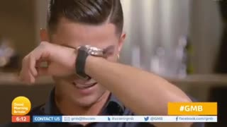 Cristiano Ronaldo in tears after watching father's video