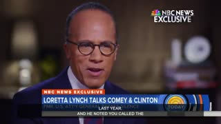 Lester Holt asks Loretta Lynch about calling Hillary probe a 'matter' - Video