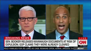 Anderson Cooper Grills Booker on Whether GOP Cleared His Release of Kavanaugh emails - Video