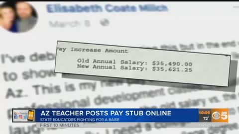 Arizona Teacher Posts Pay Stub To Protest Low Pay