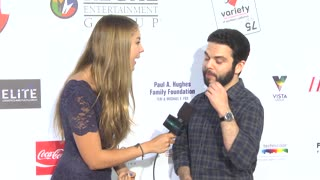 Samm Levine at Variety's 6th Annual Poker Tournament at Paramount Studios - Video