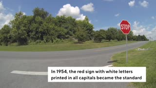 Why The Stop Sign Wasn't Always Red - Video