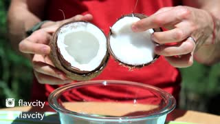 Food Hack -  How To Open A Coconut - Video
