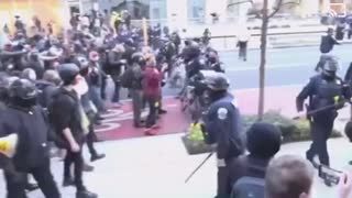 Antifa being pushed back by police in DC