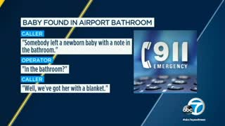 Woman with Neck Pillow and Blanket in Airport Might Have Been Hiding the Baby She Abandoned - Video