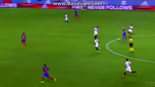 Munir El Haddadi Goal - Sevilla vs Barcelona 0-2 - Video