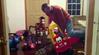 Man Gets Stuck in Little Tikes Car - Video