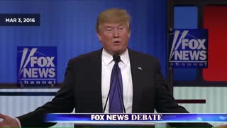 Chris Wallace asked Trump the same question in 2016 debate