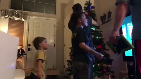 Putting up the Christmas Tree - Timelapse