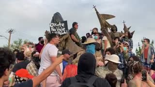 New video shows moments leading up to shooting at New Mexico conquistador statue