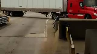 Terrible Truck Driver vs Toll Booth - Video