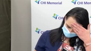 Nurse Passes Out Moments After Taking Vaccine - Live On Air!
