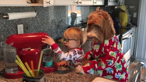 he Boy And Dog Just Woke Up, And Their Morning Routine Will Put A Smile On Your Face