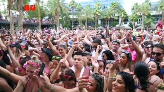 DJ Pauly D @ Rehab Pool Party  |  Hard Rock Hotel - Las Vegas, NV - Video