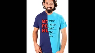 Graphic Design Funny printed Mens Turquoise Colour T Shirts