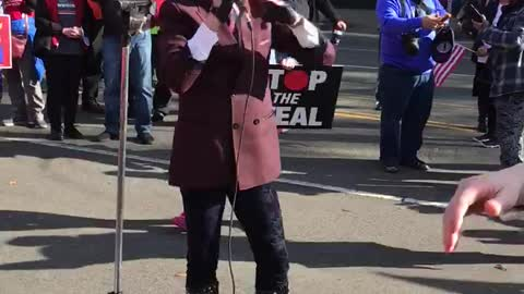 Ricky Rebel at Stop the Steal Rally In DC