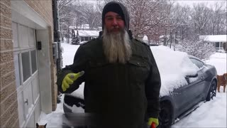 Brilliant Leaf Blower Snow Removal Tactic