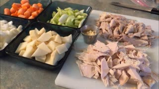 Homemade Turkey Soup from Stock