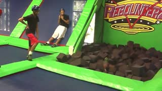 Trampoline Flip Fail  - Video