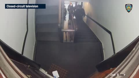 NYC - Officer's Shooting Caught On Security Cam