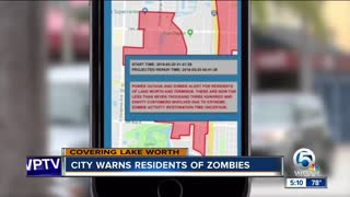 City of Lake Worth warns residents of power outage AND zombies - Video