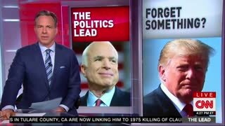 Jake tapper thanks John McCain since Trump wouldn't