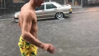 Swimming Up Street