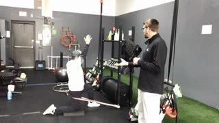 Band-Distracted Hip Flexor Stretch