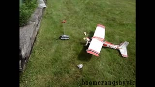 Modified RC gas airplane crashes seconds after take off - Video