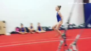 Girl tried doing flip but faceplants