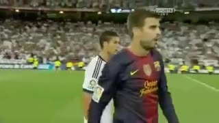 VIDEO: C.Ronaldo and Messi don't shake hands