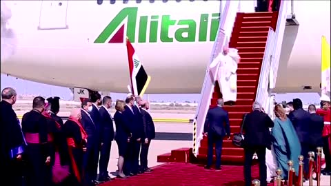 Pope Francis arrives in Iraq for historic visit