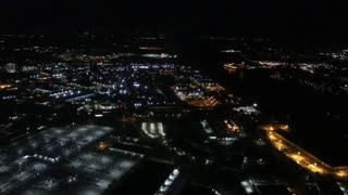 Night Time Landing at St. Louis Lambert International Airport