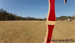 First ever returning boomerang battleaxe - Video
