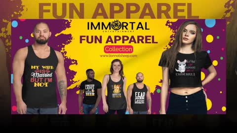 Tickets, Marketing and Apparel. All Available at Immortal Entertainment