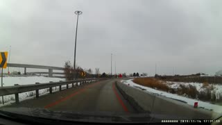 Car Flips After Accident on Toronto Highway
