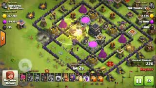 COC attack: GOValk attack: 3 star: NICE loot