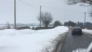 Beast from the east snow drifts - Video