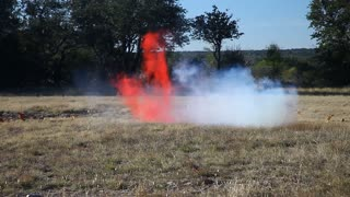 Tannerite blows up pumpkin.