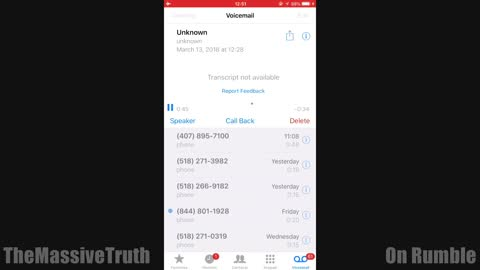Scary Encoded Voicemail - They Are Not Human