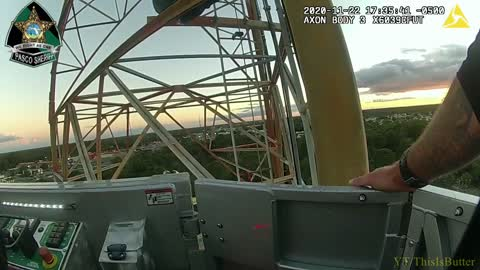 Pasco County Deputies and Fire Personnel Save Man From 300-Foot Tower Sunday